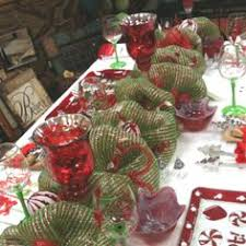 mesh ribbon table decorations deco mesh runner google search table decorating pinterest