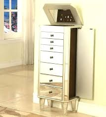mirror and jewelry cabinet mirrored wall jewelry armoire mollik me