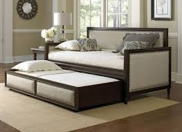 fashion bed group grandover cream espresso twin daybed with trundle