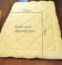 Duvet Size How To Make A Toddler Size Duvet From A Single Bed Duvet My