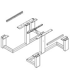 Picnic Table Frame Frame Kit Universal Access Square Frame Picnic Table Wpts