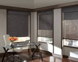 Elegant Window Treatments by Decorating Elegant Modern Window Treatment With Black Cozy Couch