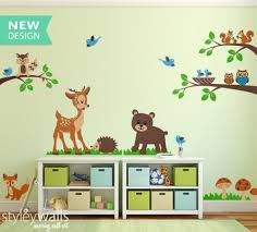Animal Wall Decals For Nursery Forest Animals Wall Decal Tops Woodland Critters Children Wall