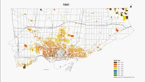 Map Of Toronto Maps Of The Urban Growth Of The City Of Toronto Feb 2014