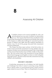8 assessing all children early childhood assessment why what