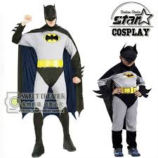 Boys Batman Halloween Costume Family Matching Father Son Boys Batman Costume Superhero Halloween