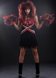 womens halloween zombie cheerleader costume zombie cheerleader