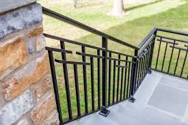 Iron Grill Design For Stairs Exterior Railings Gallery Compass Iron Works