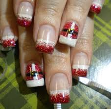 beautiful christmas nail art designs fashion 2013 2014 for girls