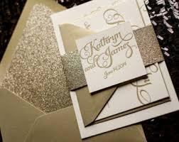 wedding invitations gold gold glitter wedding invitations marialonghi