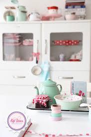 kitchen pastels greengate enamel white red washi tape