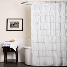 Ruffled Shower Curtains Ruffle Shower Curtain Walmart