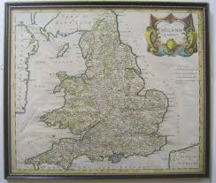 Wales England Map by Original Antique Map Of England And Wales By Robert Morden C1695 Sold