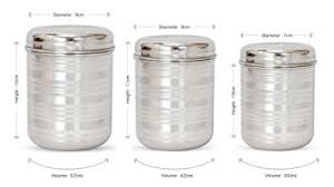 stainless kitchen canisters buy hazel stainless steel kitchen storage container silver 3