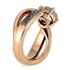 gold wedding ring sets stellar gold wedding ring set moonstone ring and meteorite
