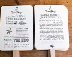 diy fan wedding programs kits wedding fans etsy