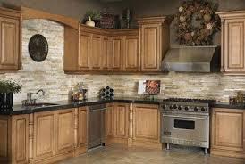 kitchen backsplash with oak cabinets kitchen backsplash with natural stone kitchen pinterest