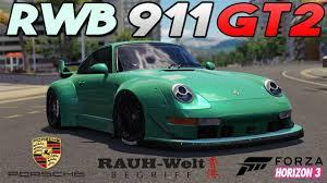 1991 porsche 911 turbo rwb forza horizon 3 1995 rwb porsche 911 gt2 customization guide