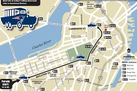 Boston Street Map by Map Of Patriots Super Bowl Parade Route Boston Herald