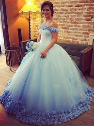 blue quinceanera dresses buy gown the shoulder floor length ombre blue quinceanera