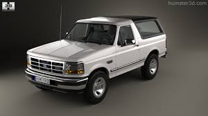 white bronco car 360 view of ford bronco 1992 3d model hum3d store