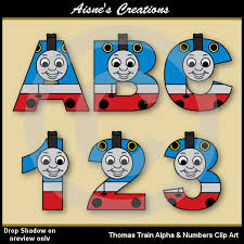 thomas train alphabet letters u0026 numbers clip aisnescreations