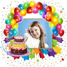 birthday photo frames u2013 write or draw your wishes and make cute