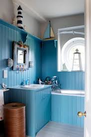 nautical bathroom ideas blue nautical bathroom matchboard walls small bathroom design
