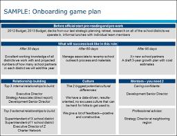 creating an onboarding game plan bridgespan