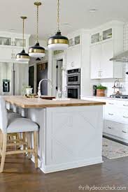 how to cut cabinets panels how to customize a plain kitchen island with side panels