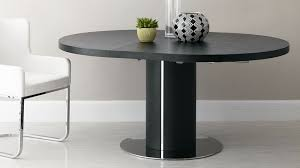 Black Glass Extending Dining Table Black Ash Extending Dining Table Pedestal Base Uk At