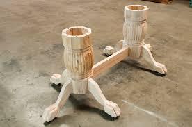 unfinished wood table legs wood poker table pedestal leg set