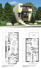 multi story narrow lot house plans hahnow