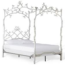 corsican white iron mature trees queen bed frame free shipping