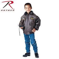 Boys Leather Bomber Jacket Rothco Kids Wwii Aviator Flight Jacket