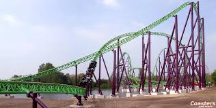Goliath Six Flags Magic Mountain Coastersandmore De Achterbahn Magazin Megacoaster Goliath Im