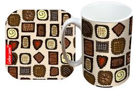 selina jayne chocolates limited edition designer mug and coaster