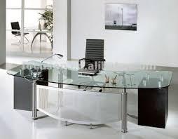 Office Furniture Glass Desk Impressive Glass Office Desk L Shapes Glass Office Desk Black