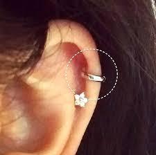 hoop earring on cartilage 54 helix ring earrings best 25 helix earrings ideas on