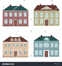 set four houses on stock vector 376573621