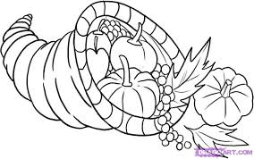 how draw cornucopia step thanksgiving seasonal free bebo pandco