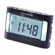 travel alarm clocks images Serene innovations vibrating alarm clock and vibrating timer jpg
