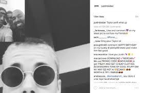 Justin Bieber Birthday Meme - justin bieber s instagram with caption taylor swift is a snake