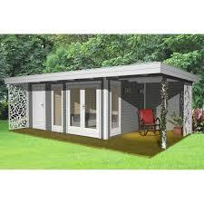 gartenhaus design flachdach gartenhaus design flachdach mit anbau und terrasse 40 mm nwh celle