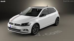 volkswagen polo black 2017 360 view of volkswagen polo beats 5 door 2017 3d model hum3d store