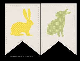 rabbit banner free printable bunny banner landeelu