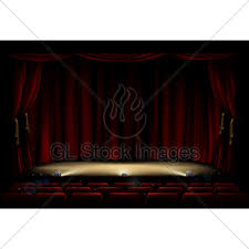 Stage With Curtains Theatre Stage With Masks Gl Stock Images