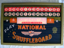 Antique Shuffleboard Table For Sale National Shuffleboard Table Weights Caps And Accessories