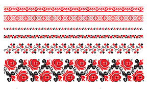 ukrainian ornaments ornaments of ukrainian embroidery set 8 royalty free cliparts