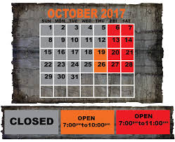 calendar psycho path haunted attraction